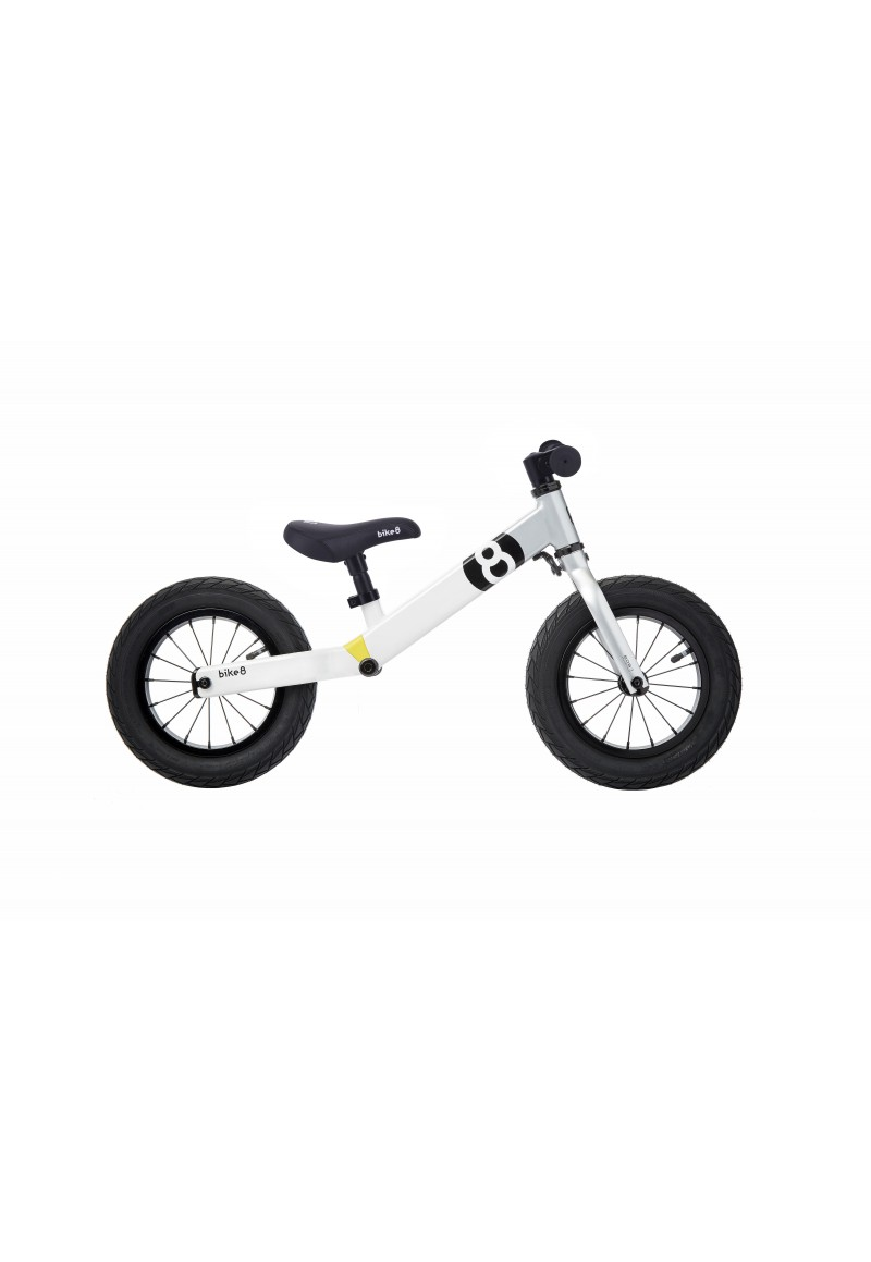 Беговел - Bike8 - Suspension - Standart (White-Silver)