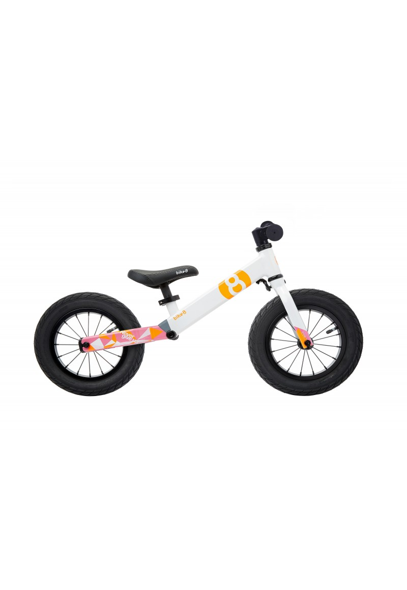 Беговел - Bike8 - Suspension - Standart (White-Pink)