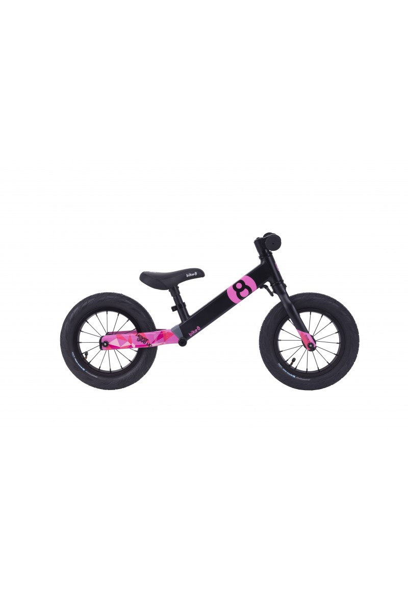 Беговел - Bike8 - Suspension - Standart (Black-Pink)