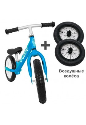 Cruzee UltraLite Balance Bike (Blue) + Air Wheels